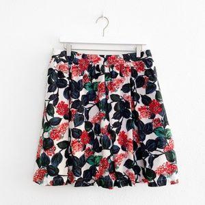 Boden Floral Cotton Circle Skirt